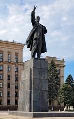 Lenin monument in Voronezh, Russia