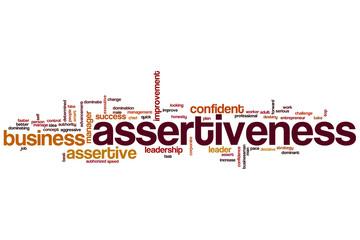 Assertiveness word cloud