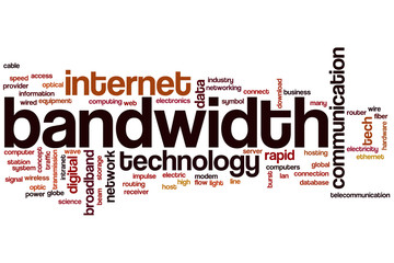 Bandwidth word cloud