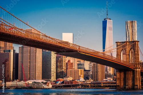 Stampa su Tela New York,Brooklyn Bridge,