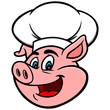 Pig with Chef Hat - 74966494