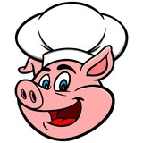 Pig with Chef Hat