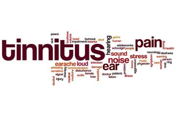 Tinnitus word cloud