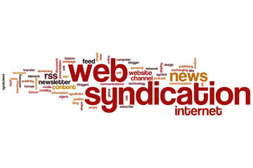 Web syndication word cloud