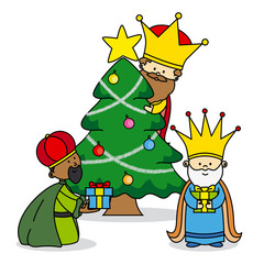 the three kings leaving gifts