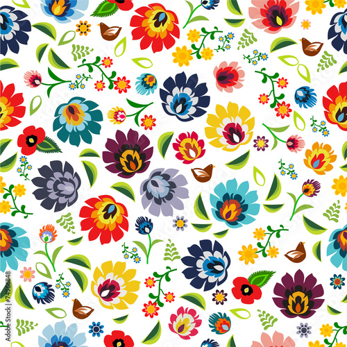 Polish folk pattern vector - 74966848