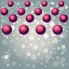 red  balls on silver background