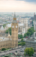 London. Aerial view of Big Ben
