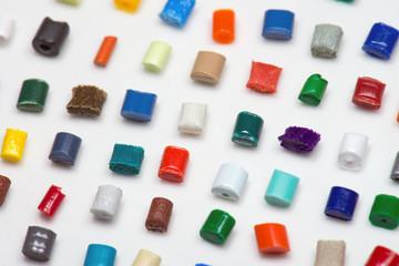 Farbmuster Kunststoffgranulate