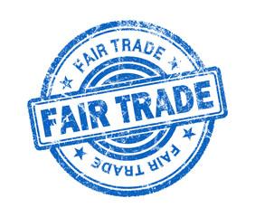 fair trade stamp on white background
