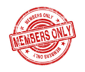 members only stamp on white background