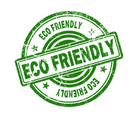 ECO friendly stamp on white background