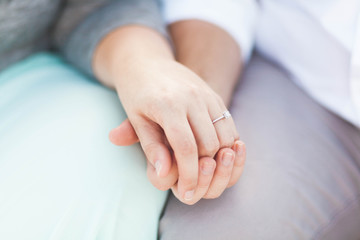 Engagement Holding Hands