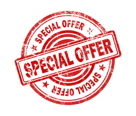 special offer stamp on white background