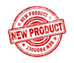 new product stamp on white background