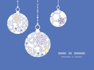 Vector ornamental abstract swirls Christmas ornaments