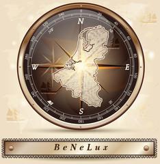 Karte von den BeNeLux-Laendern