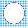 Plate with Blue Picnic Tablecloth - 74971012