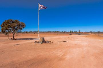 Camerons Corner in outback Queensland,Australia.
