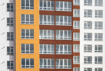 Colorful facade from new hous