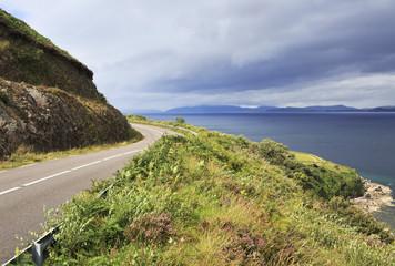 Road along the Atlantic coast.