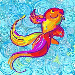 Рыба в стиле импрессионизма
