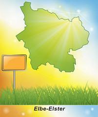 Karte von Elbe-Elster