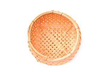 Empty Basket on a white isolate background