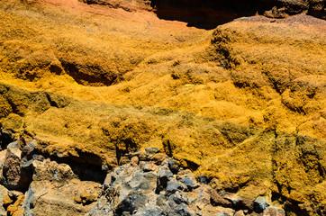 Dry Hardened Volcanic Lava