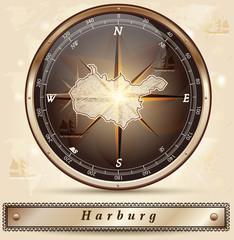 Karte von Harburg