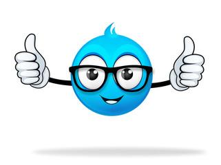 blue cartoon character