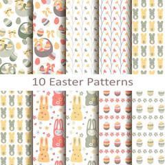 set of ten easter patterns