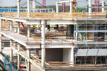 costruzione in cantiere edile