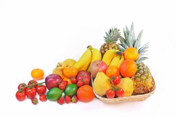 山盛りのフルーツ
