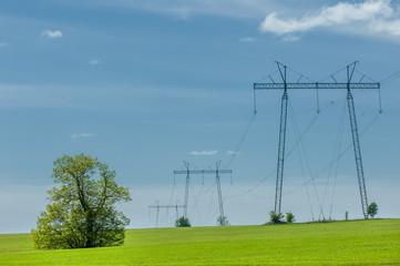 power poles. Electricity Line.
