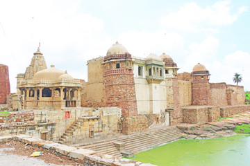 massive Chittorgarh Fort and grounds rajasthan india