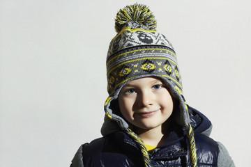handsome little boy.funny child.winter fashion kids