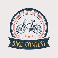 vintage bike contest vector illustration, eps10