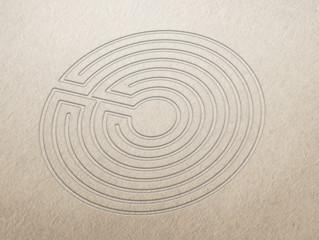 Klassisches Labyrinth - Papier