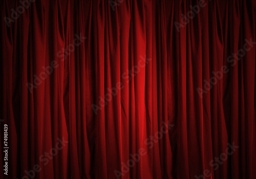 Foto op Canvas Stof Red curtain