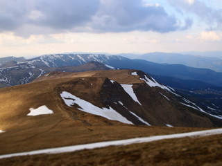 Carpathian mountains 23 under snow in spring