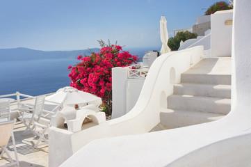 Panorama of Santorini island - Greece