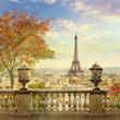 Leinwanddruck Bild - panorama of Paris