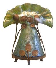colored glass vase