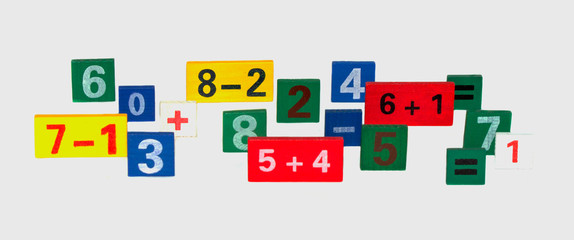 colored numerals