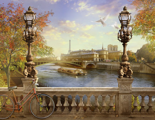 the Seine, Notre Dame de Paris,