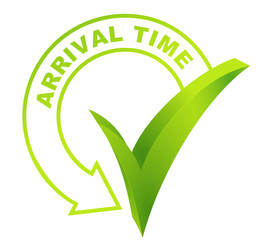 arrival time symbol validated green