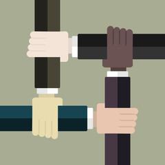 Racism concept . Flat design web icons