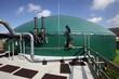 Leinwanddruck Bild - Biogasanlage