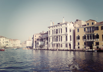 Venice grand canal in vintage tone